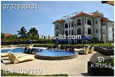 3 br executive furnished beach apartment for sale in Nyali