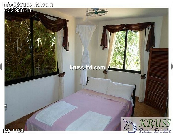 Furnished 1br apartment for rent in Nyali