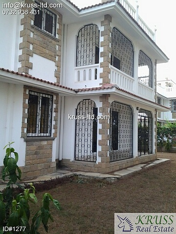3br furnished all en-suite maisonette house for rent in Nyali
