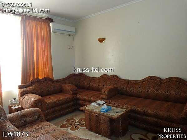 3 Bedroom fully furnished apartment for rent in Nyali