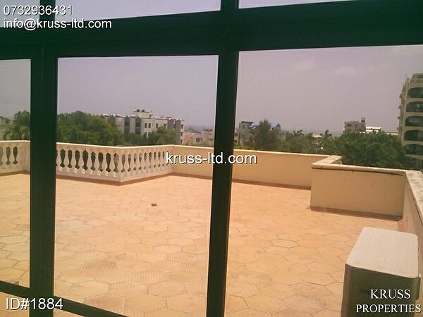 3br penthouse apartment for rent in Kizingo