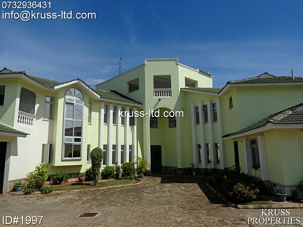 5br fully furnished modern house on its own 1/4 acre land available for rent in Nyali