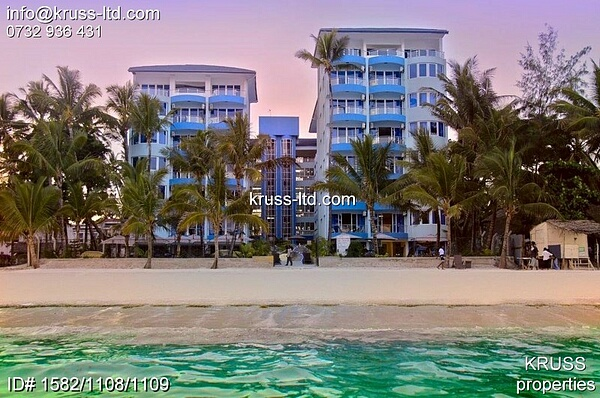 1br Furnished Beach apartment for sale in Bamburi Beach