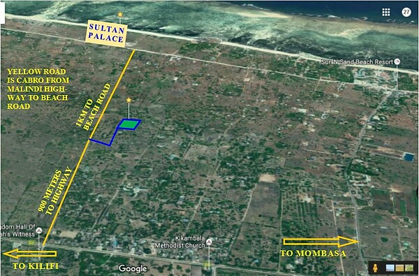 Half acre plot of land for sale in Kikambala