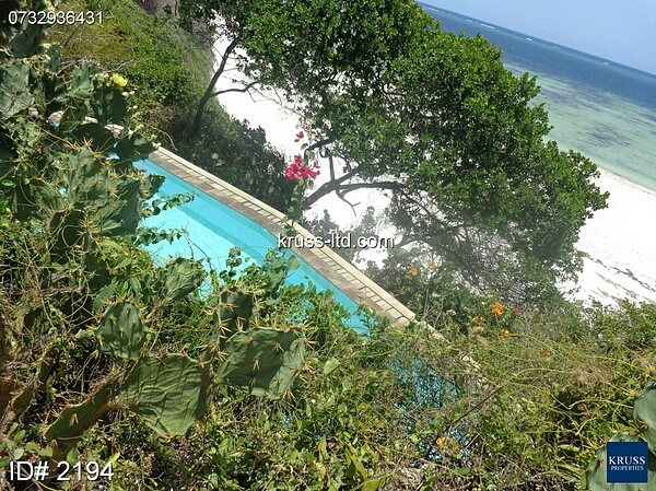 2 Bedroom furnished beachfront apartment for rent in Nyali