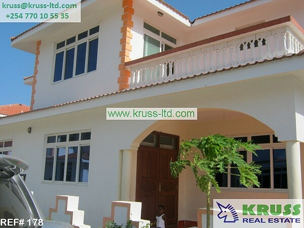 5 br FURNISHED house for rent  in Nyali City Mall area