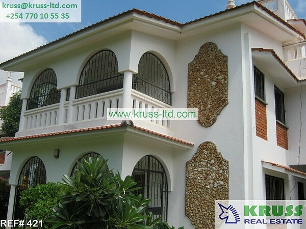 Fully furnished 4 bedroom house for rent in Nyali