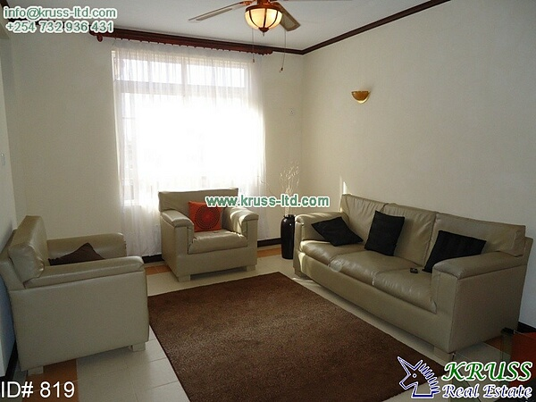 2 bedroom furnished apartment to let in Cinemax - Nyali area