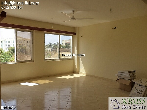 3 Bedroom spacious Apartments for rent in Nyali