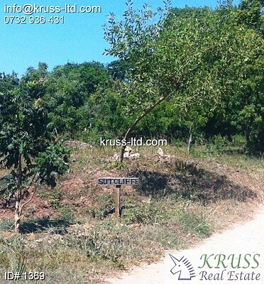 Quarter acre plot for sale in Shanzu