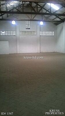 Warehouses of 5500 and 6500 sqft available for rent in Shimanzi