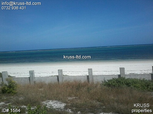 1.2 acre beach plot for sale in Nyali