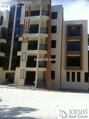 3 bedroom new apartments for rent in Mombasa-Tudor