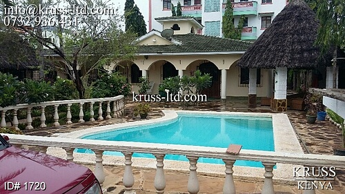 5br house with sw.pool for rent in Mtwapa