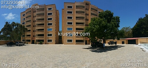 3br newly built apartment for rent in old Nyali
