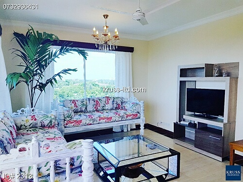 2 br fully FURNISHED apartment with nice ocean view for rent in Royal Apartments Nyali