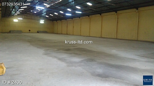 34,000 sqft + 10000 sqft  Warehouse and office to let in Majengo