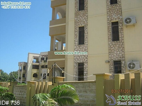 3 bedroom furnished apartment for let in Nyali