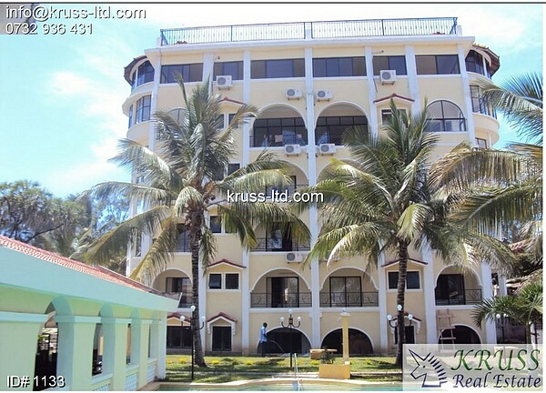 2 br apartments next to ocean fully furnished for rent in Nyali