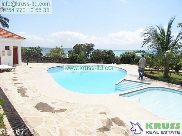 3 bedroom furnished  beach apartment for rent in Nyali