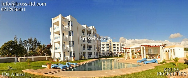 2 Bedroom Fully Furnished Beach Apartment For Rent in Nyali