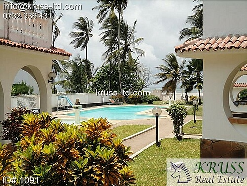 Two bedroom beach apartment for long term let in Bamburi
