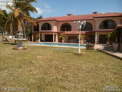 6 BR AMBASSADORIAL BEACH FRONT HOUSE FOR RENT IN NYALI