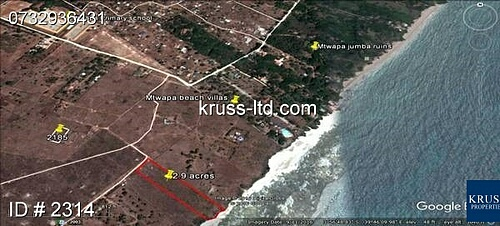 2.9 acre Mtwapa Creek Plot for sale