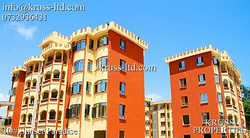 4 br Sunset Paradise apartments For sale in Shanzu