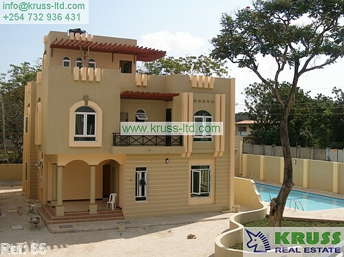 5 bedroom house for rent in Nyali, unfurnished